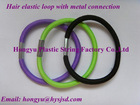 Hair elastics loop with metal connection/hair band/hair accessory