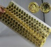 golden portrait accessory plastic strip for belly dancing costume.etc../accessory strip for costume