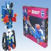 Cool robot b/o plastic building block toy