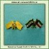 Custom Epoxy Flag Pin (dobule flags)