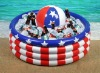 Inflatable Cooler Beach Ball Patriotic