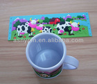 3D milk cow logo mug,various design mug cup