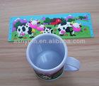 3D milk cow logo mug,various design mug cup