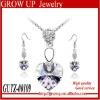 Wholesale latest fashion rhinestone wedding jewelry set bridal