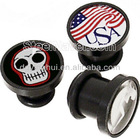 Unique Logo Picture Ear Plug Piering, Acrylic Ear Plug, Body Piercing