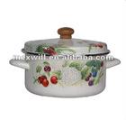 Korean style enamel stockpot