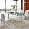 Modern design extendable glass dining table-L808D
