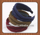 Warm beautiful wide knitting wool/woolen yarn headband