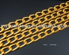 2.2mm Thickness Gold Aluminum Curb Chain