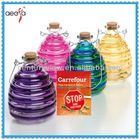 **********home and guarden Colored hanging glass bottle for fly catcher