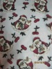 christmas embroidered fabric