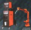 welding machine work with robot