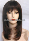 "Excellent quality 16""silky straight wave Indian remy hair full lace wig with bang ,accept escrow&paypal"