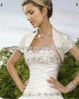 ivory satin short sleeves wedding bolero WB124