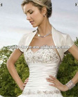 ivory satin short sleeves wedding bolero WB124