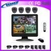 4CH 15 inch LCD all-in-one dvr kit cctv dome camera