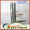 ISUZU Piston Rings 4LE2 Cylinder liner piston engine parts