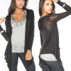 Hooded Pocket Long Sleeve Women Cardigan