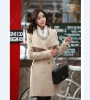FY24298 woman elegant wool winter coat in style Korea-khaki