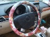 univisal black red Car steering wheel cover LT-RSWC036