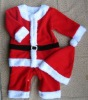 2012 hot sell baby romper for Christmas( boy style:Christmas Hat + Romper)