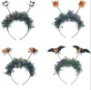 Unique Design LED Flashing Halloween Party Flash Wiggly Headband with Feather or Tinsel