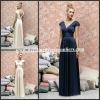 BMD153 Wonderful White Straps V-Neck Empire Pleats Lng Length Bridesmaid Dress