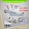 Travel Power Charger For Home & Car-fit for iphone /Brackberry/ HTC