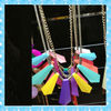 DKN25-1 newly design Spring/Summer fluorescence color fashion necklace