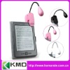 Pink mini clip book light e-book reading lamp