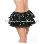 black pvc tutu womens skirt fancy dress gothic punk 80's rock fetishwear zentai