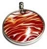 fancy fashionable metal jewelry glass pendant