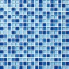 blue glass mosaic