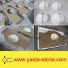 Kashmir Gold Vanity Top White Sink