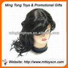 Black color curly hair wigs synthetic