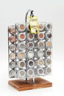 Spice rack set with 24 tubes