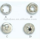 17mm metal ring snap button