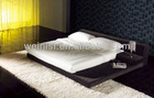 Bed room furniture, double modern design soft fabric bed 8307