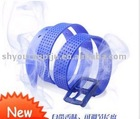 Unisex rubber waist belt, Fashion Blue belts