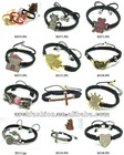 Shamballa Crystal Heart/Cross/Clover/Cat/Palm/House/Girl Charm Bracelets wholesale