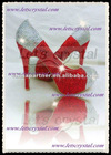 Wedding High Heels Pumps With red Mix Clear Sliver Swarovski Crystals Best Sell Diamond Shoes 5-0 full size(have half size)