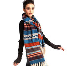fashion Bohemian big scarf ,tassel knitting wool scarf