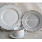 porcelain royal gold rim dinnerware set