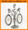 Metal 2 pic Rose flower oval tree picture frames Xmas gifts