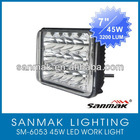 45W high power CREE LED truck headlight with high low beam SM6053