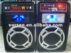 vietnam 12inch usb professional dj speaker with amplifier - comes with disco lighting