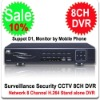 8 Channel DVR Surveillance Security CCTV H.264 8 CH DVR Stand alone 8CH DVR + Full Realtime Playback
