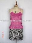 Mini skirt with prints