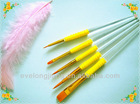 5pcs aluminium ferrule artist brush/paint brush set