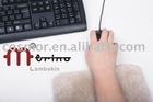 Sheepskin mouse wrist pad